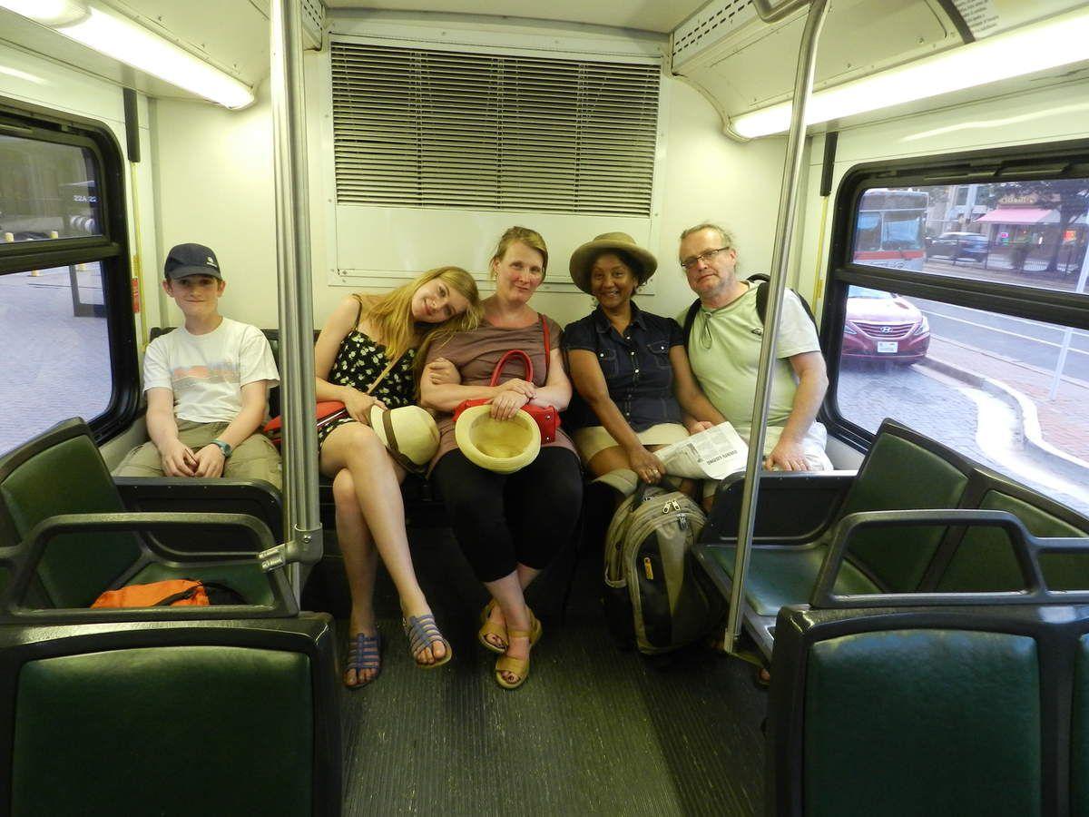 Dans un bus de Washington