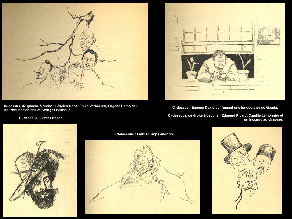 """Cinq illustrations de Claire Demolder-Rops pour """"Quatuor"""""""