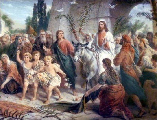 Pas Les Rameaux :    Pas à pas, la vie du Christ