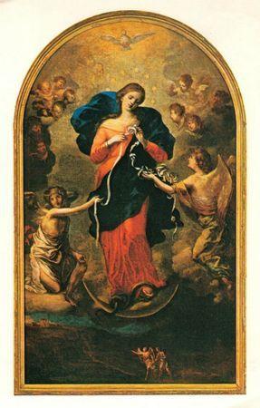 Marie, nouvelle Eve, défait les noeuds (St Irénée)