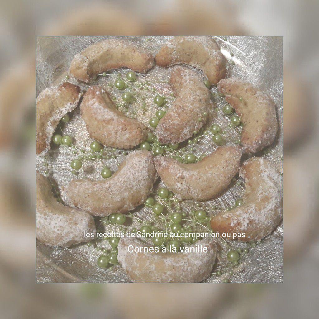 Sablés ou cornes à la vanille au companion, thermomix ou i cook'in