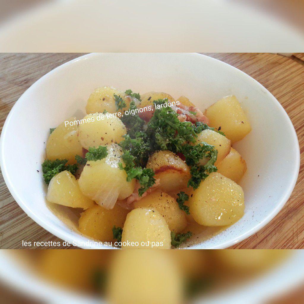 Pommes de terre oignons lardons au cookeo