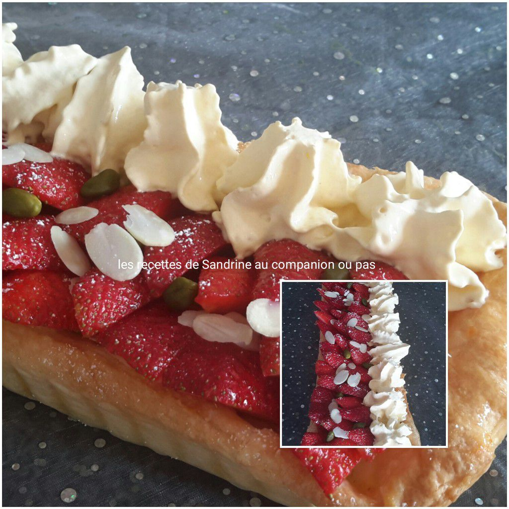 tarte aux fraises et sa chantilly vanille au companion thermomix ou sans robot les recettes. Black Bedroom Furniture Sets. Home Design Ideas