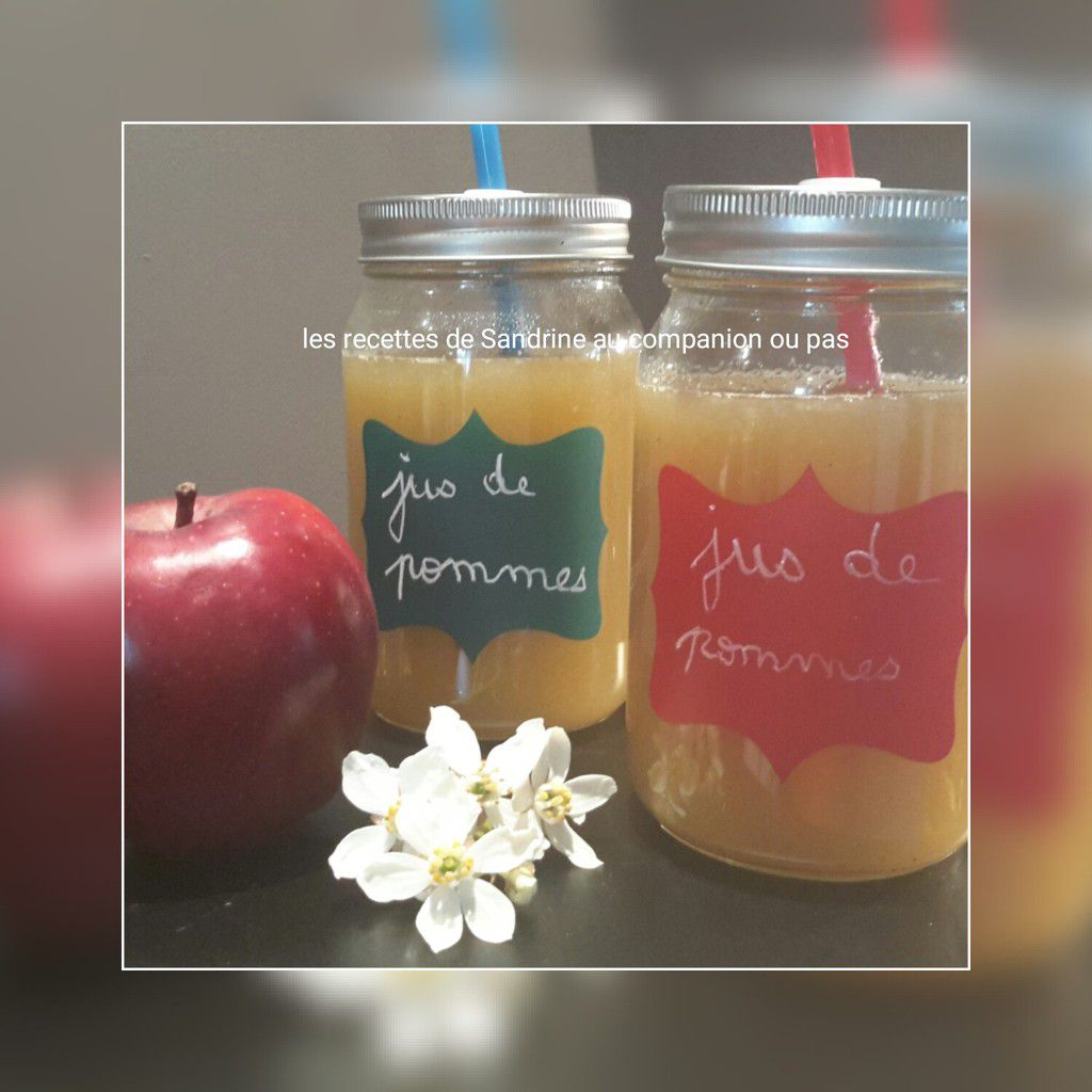 jus de pommes au companion thermomix ou autres robots les recettes de sandrine au companion. Black Bedroom Furniture Sets. Home Design Ideas