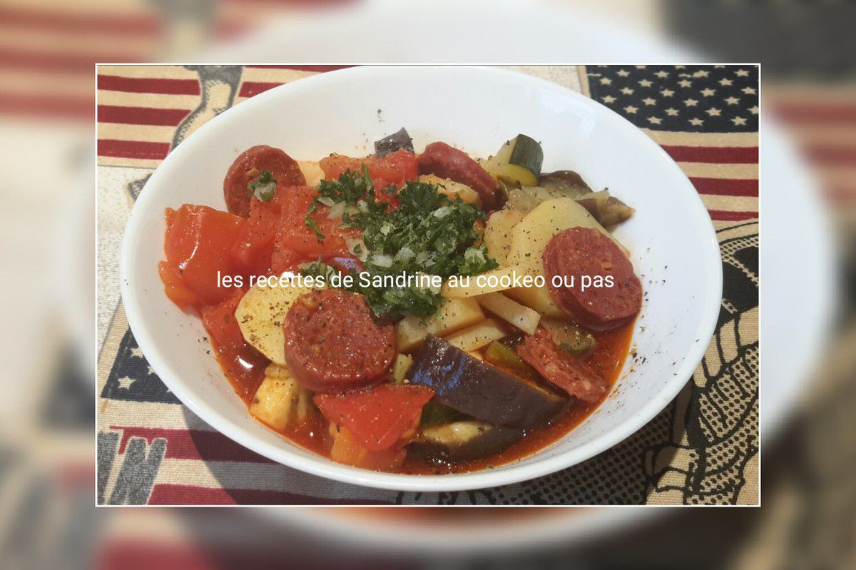 Ratatouille ma fa on au chorizo au cookeo companion for Robot cuisine cookeo