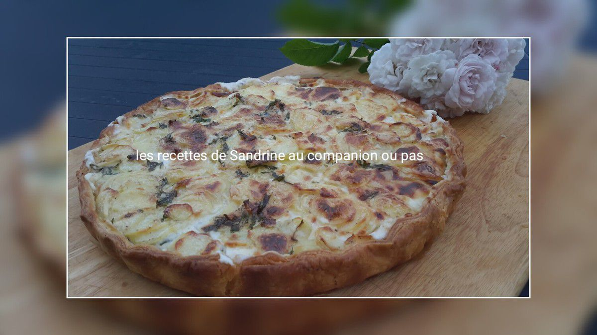 tarte aux pommes de terre et la cr me fra che sans oeuf au companion thermomix ou sans. Black Bedroom Furniture Sets. Home Design Ideas