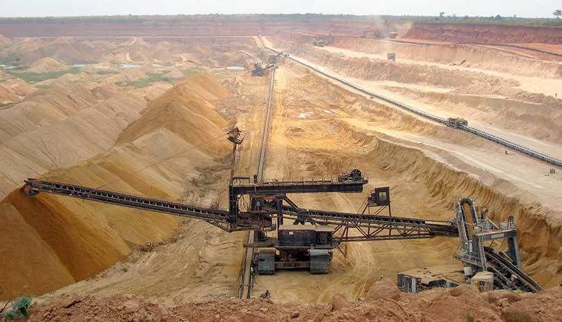 Mine de phosphate au Maroc.