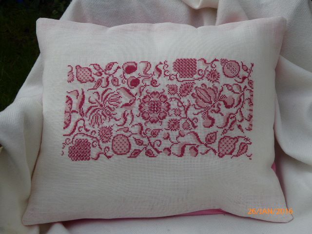 COUSSIN FLORAL ROSE/CREME
