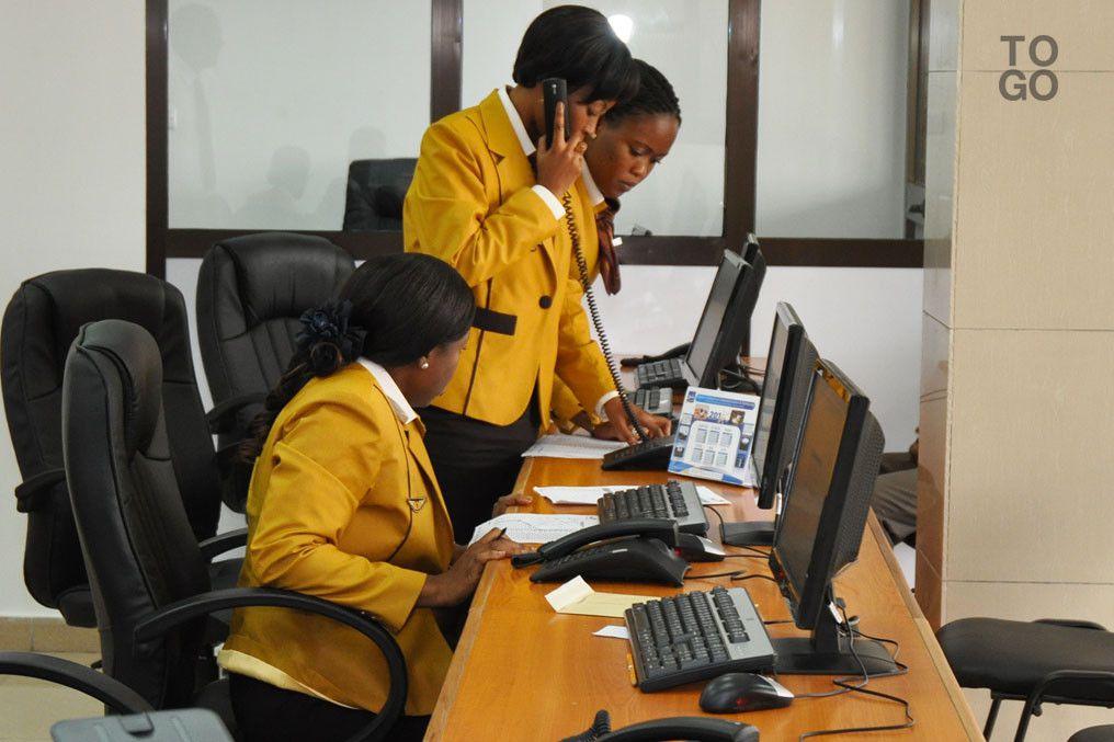 Vue du Comptoir de l'Agence Billeterie à Lomé