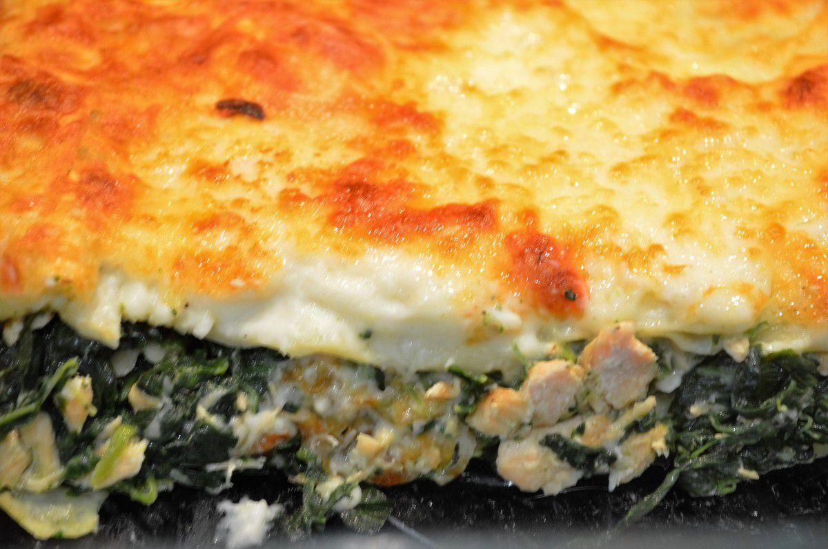 Lasagnes saumon / épinard