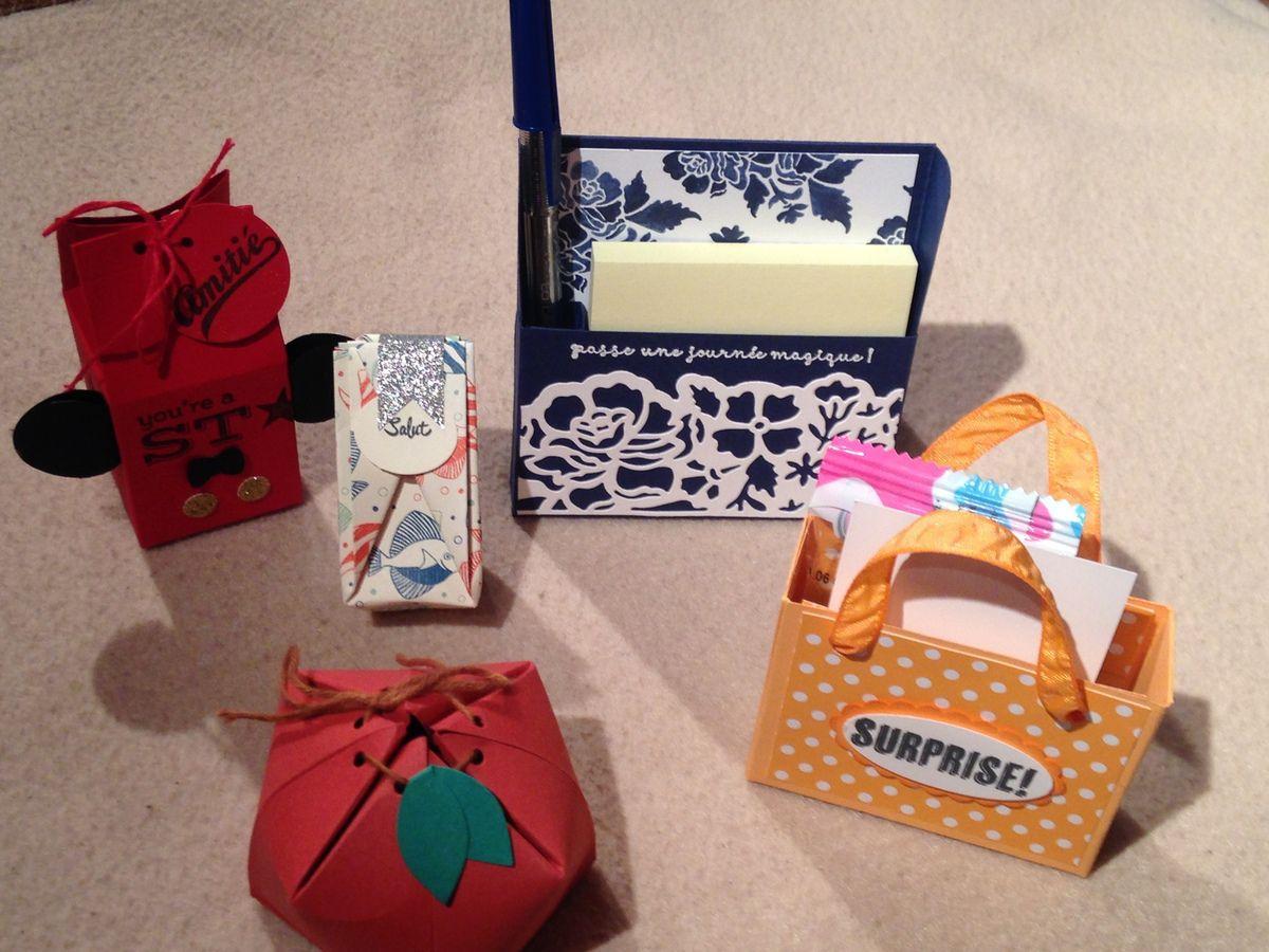 Que d'idées pour Noël: décorations de sapin, boites cadeaux, décoration de table!!