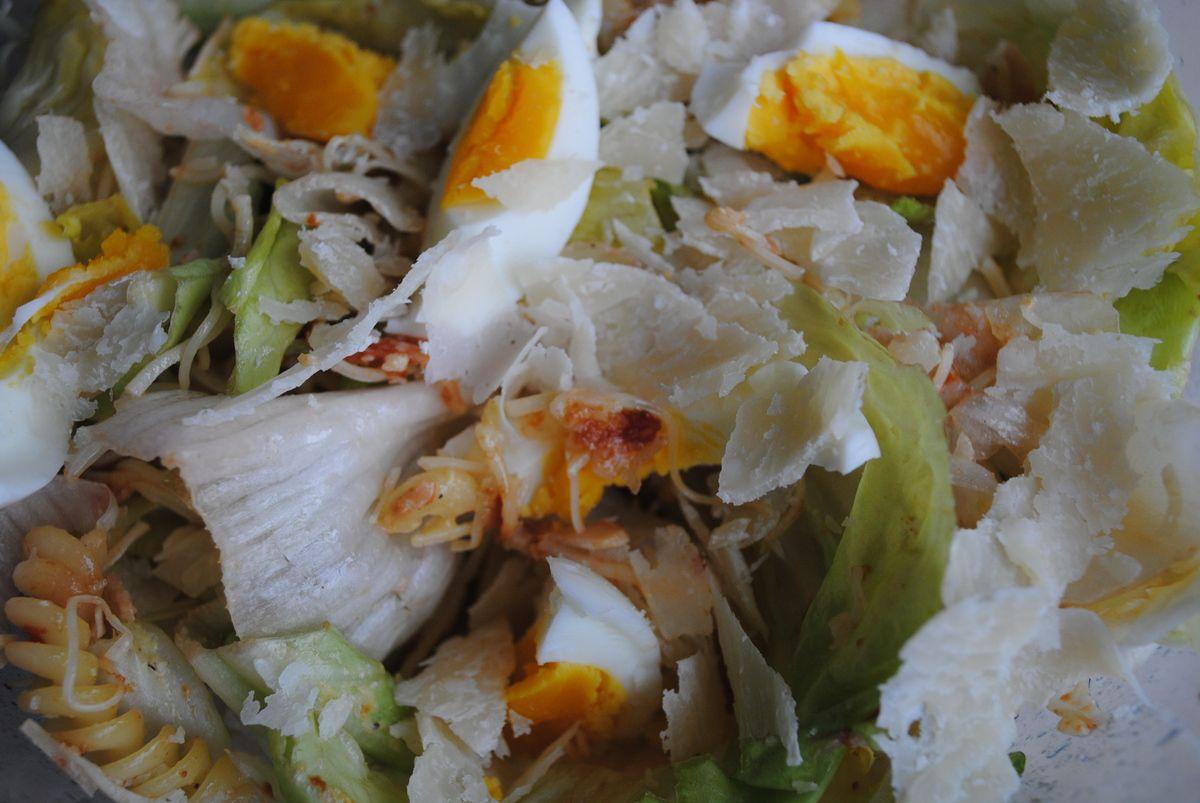 Salade de quand on a plus rien dans le frigo