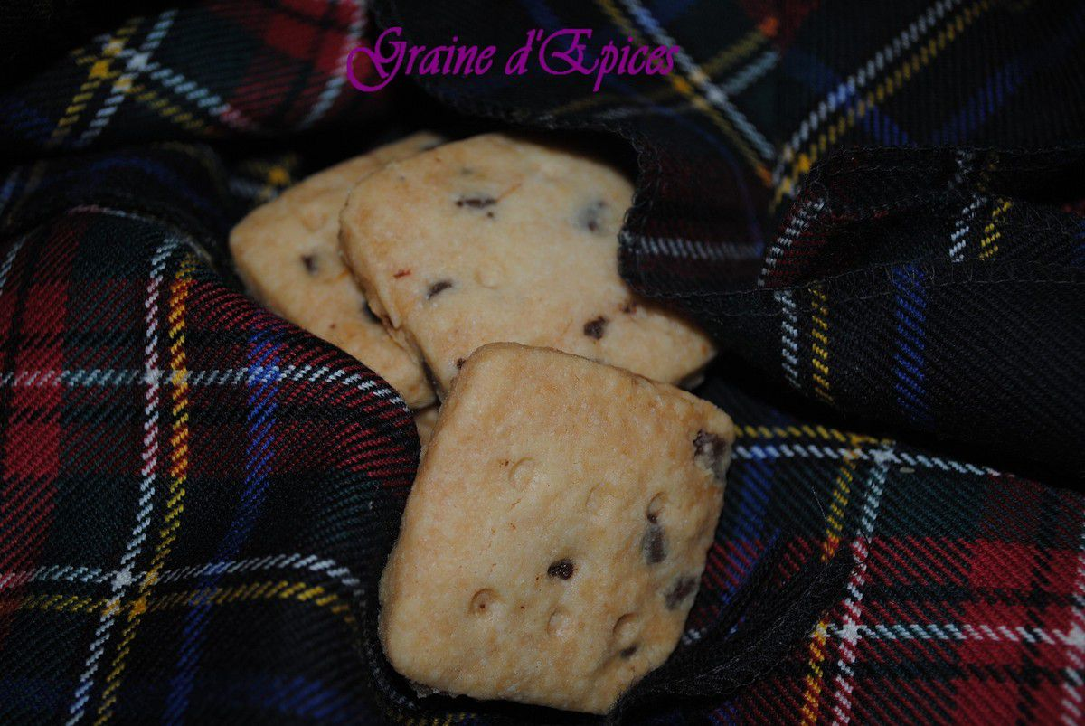 Scottish Shortbreads aux Pépites de Chocolat