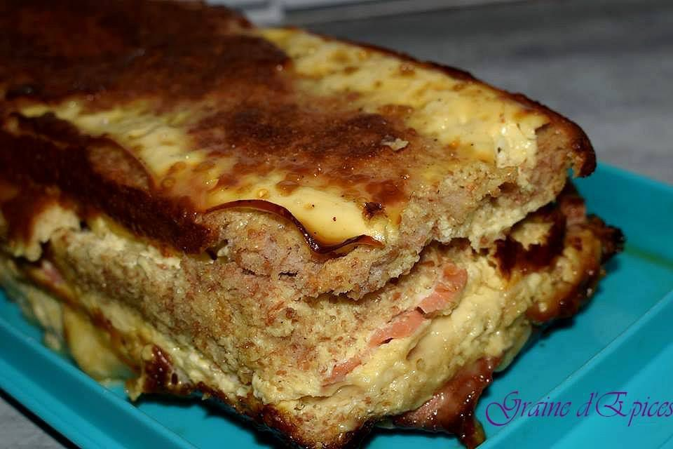 Croque Cake Saumon