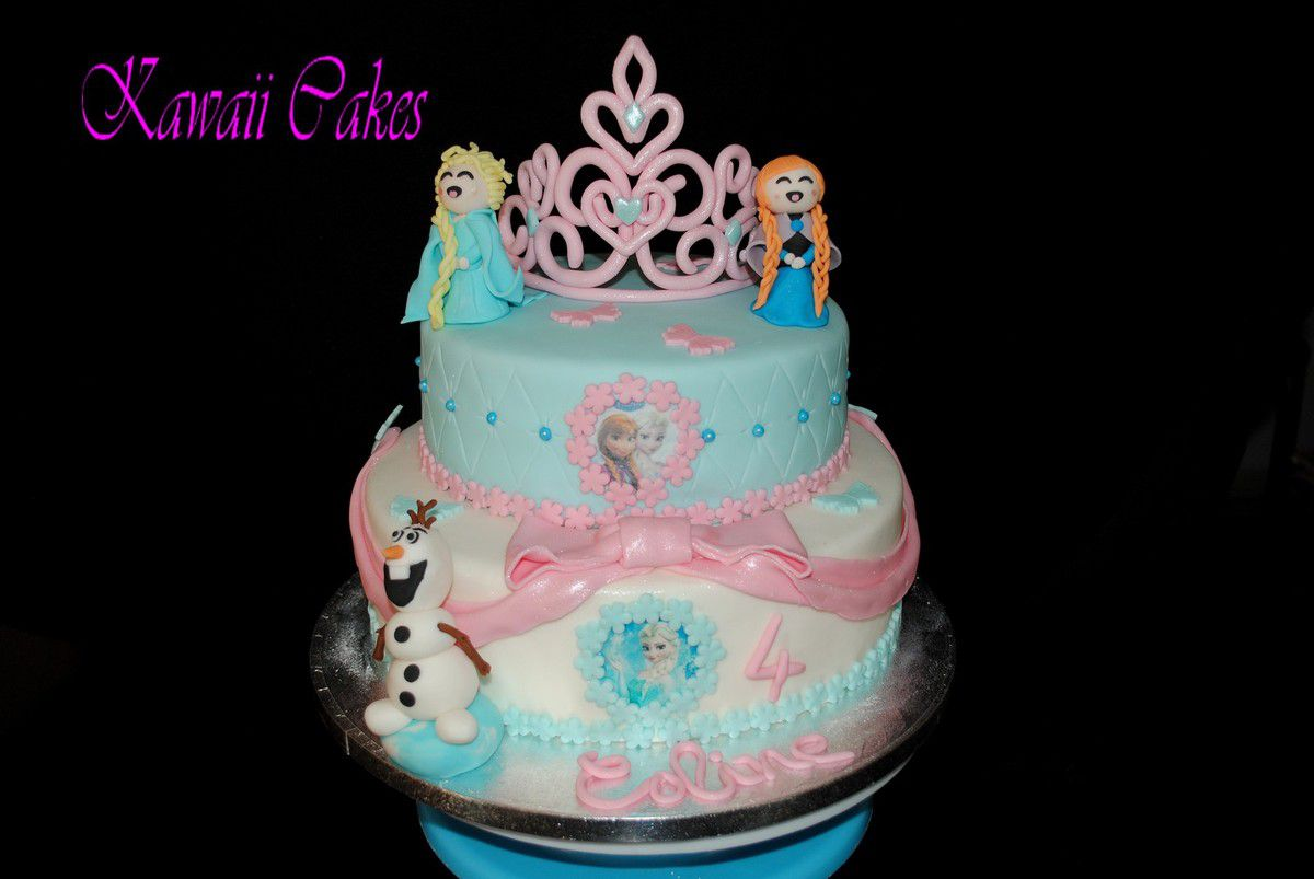 Cake design : la Reine de Neiges