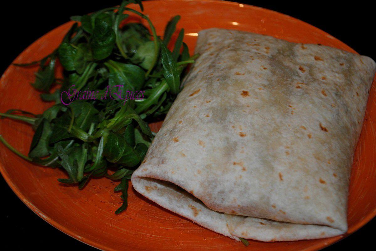 Burrito de Dinde au Yaourt & aux Epices