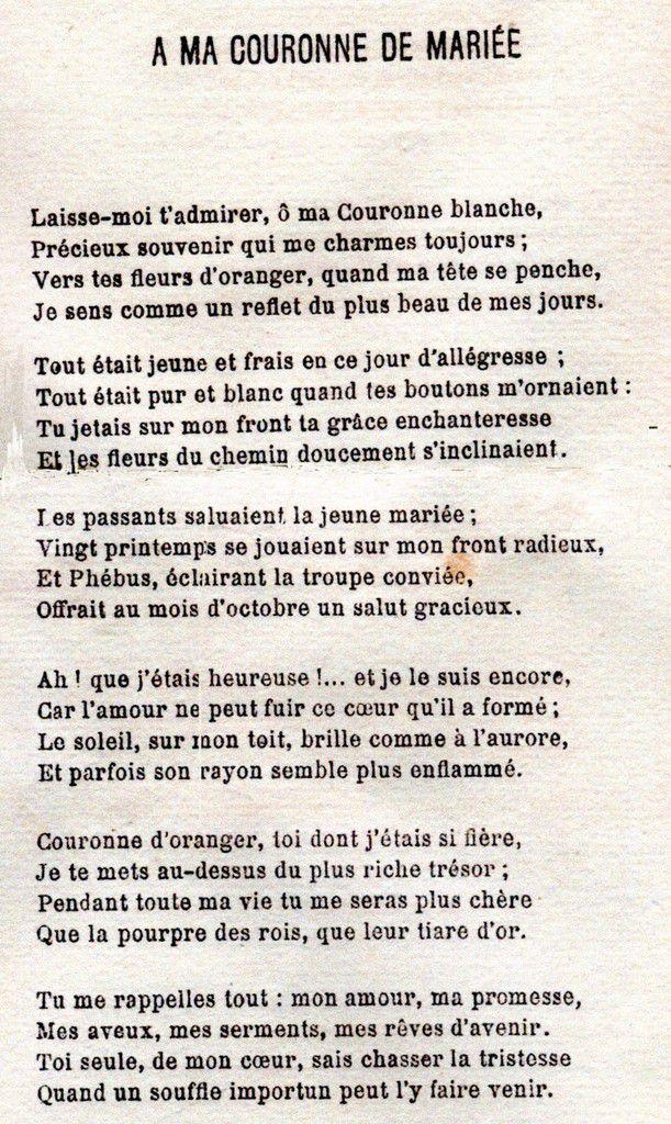 Poème édité en 1890 ( GEORGEAULT-JOUAN, Philoména, Rêves, sourires, larmes, Lorient, Ed. Jules Boyer, 1890)