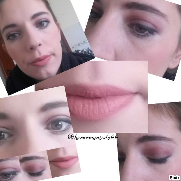 Makeup réaliser avec la palette oh my dream de Sandrea
