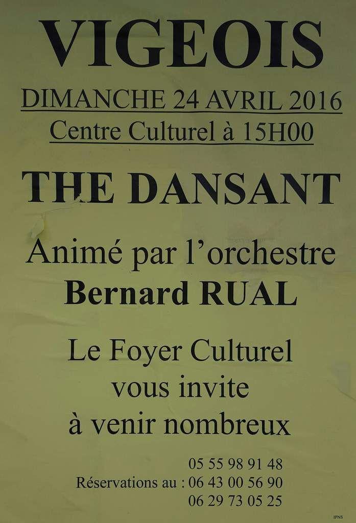 Dimanche 24 Avril: Thé dansant proposé par le foyer culturel.
