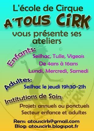 Informations importantes pour l'activité Cirque à Vigeois