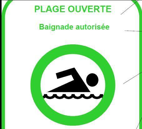 Lac de Pontcharal: baignade autorisée.