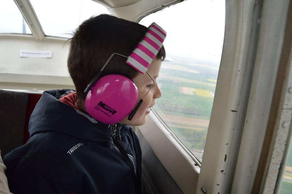 Avec Maël, dans l'avion ...