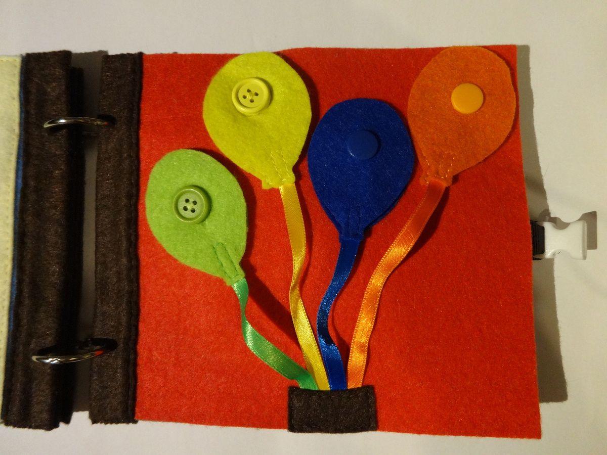 Ballons de couleur scratch, boutons et/ou pressions