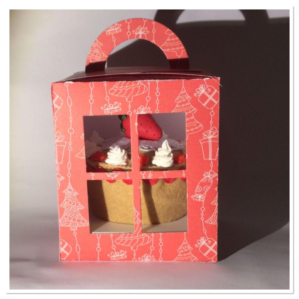 Les cupcakes feutrine et porcelaine froide