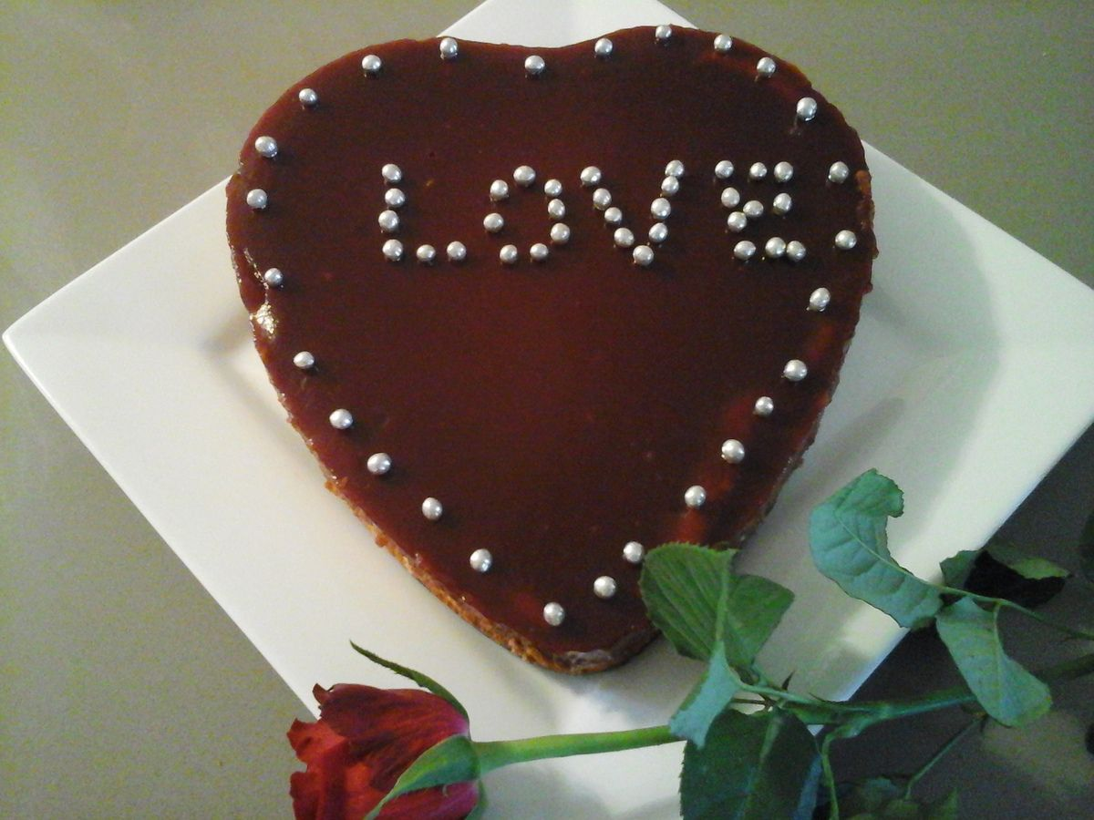 Cheesecake de Saint Valentin