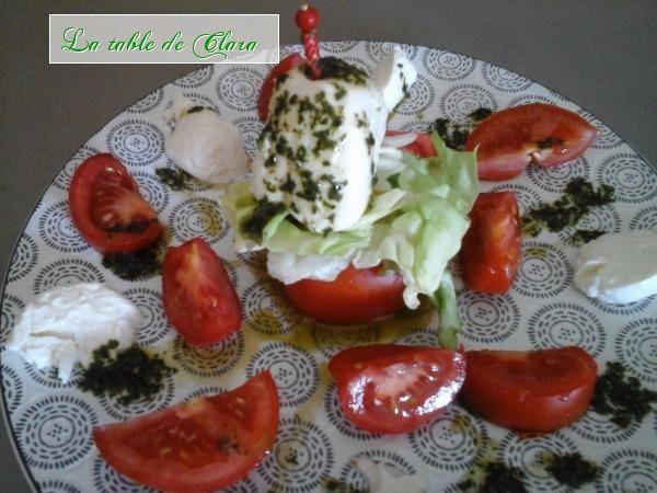 Salade tomates mozarella