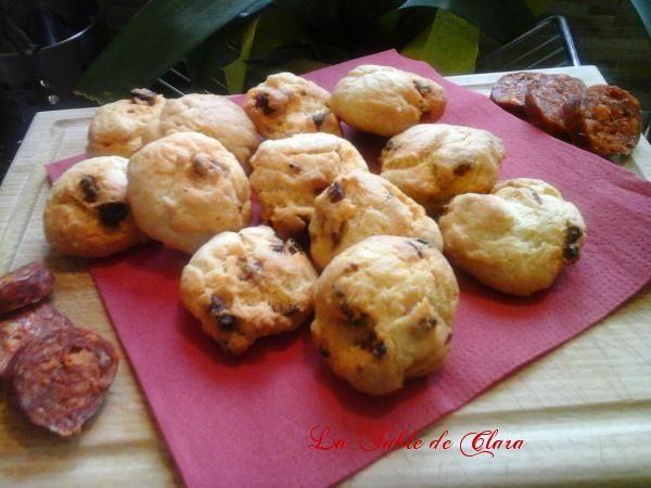 Bouchées au chorizo et parmesan