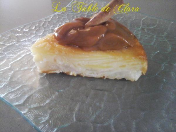 Gâteau invisible pommes poires