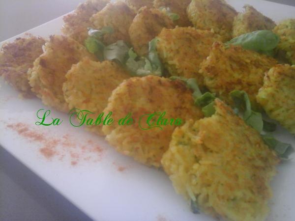 Galettes de riz aux légumes