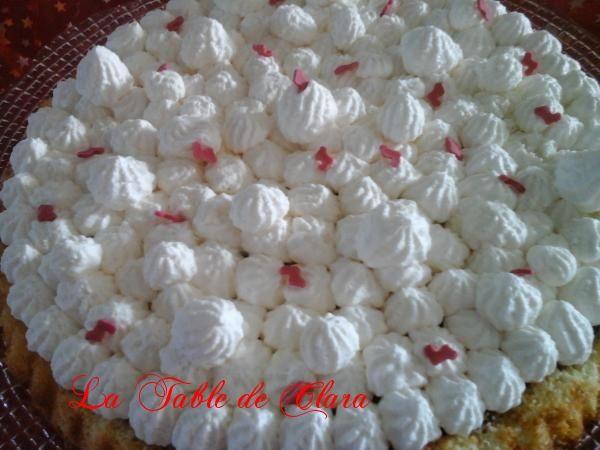 Tarte génoise compotée de cerises et  chantilly