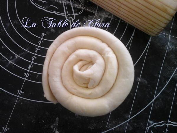 Pâte feuilletée en escargot