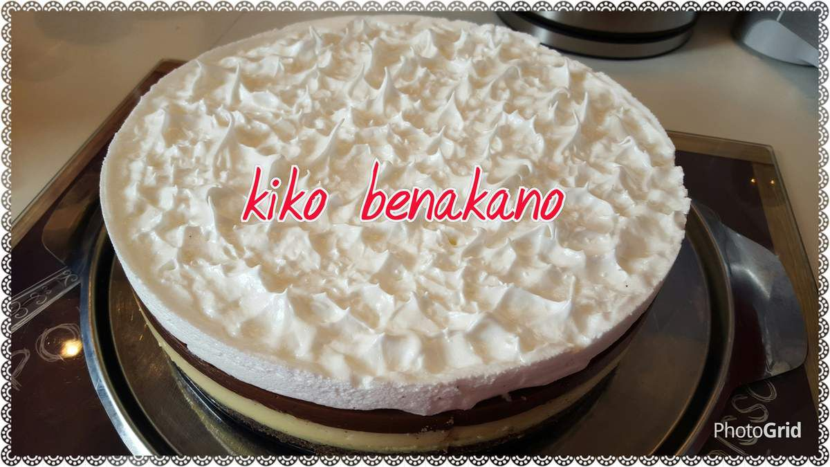 gâteau  au flan meringuée façon  CHEESE CAKE