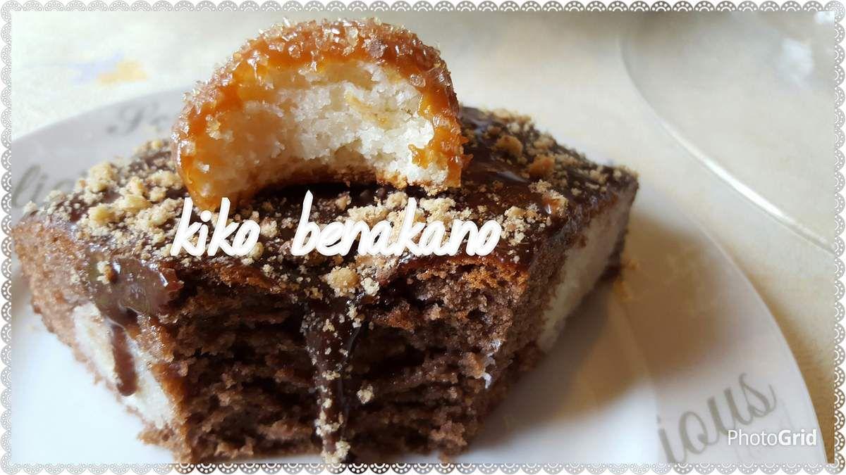 Gâteau au chocolat avec des des boulettes de coco