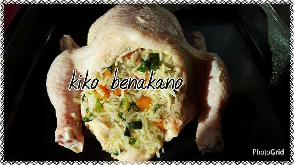 poulet farcis aux légumes aux four