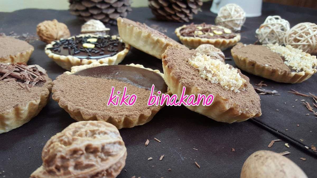 mini tarte chocolat , banane