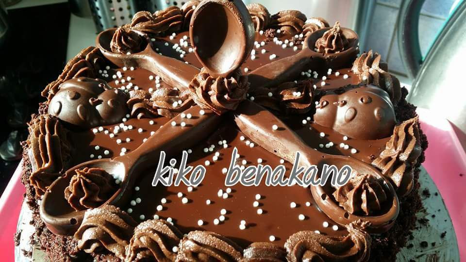 gâteau damier au chocolat noir
