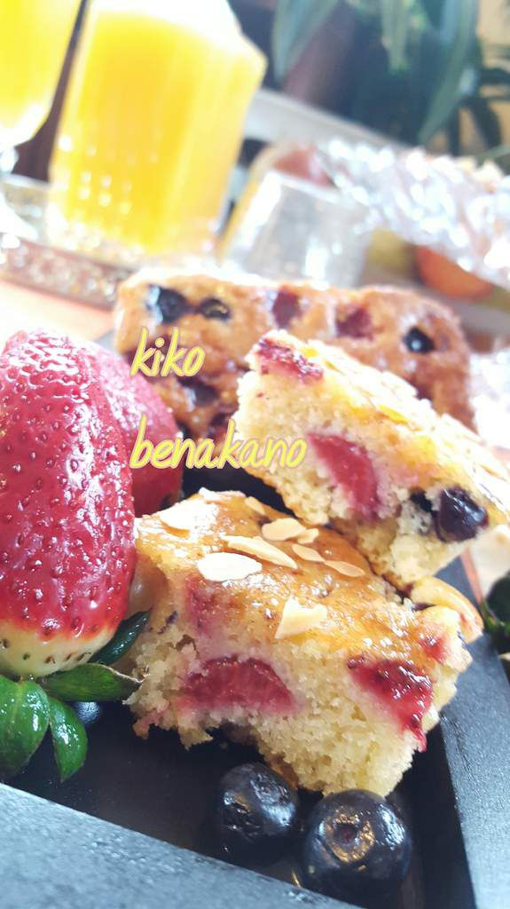 Mini cakes aux fruits