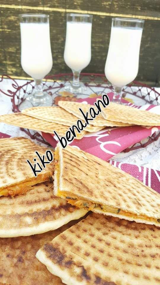 Kesra farcie a la chekchoka ( gallette algérienne )