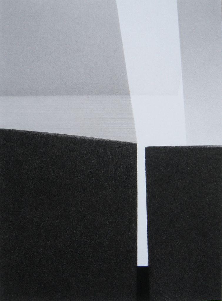 Nuit ouverte 2014, crayon Conté 28 x 20,5 cm