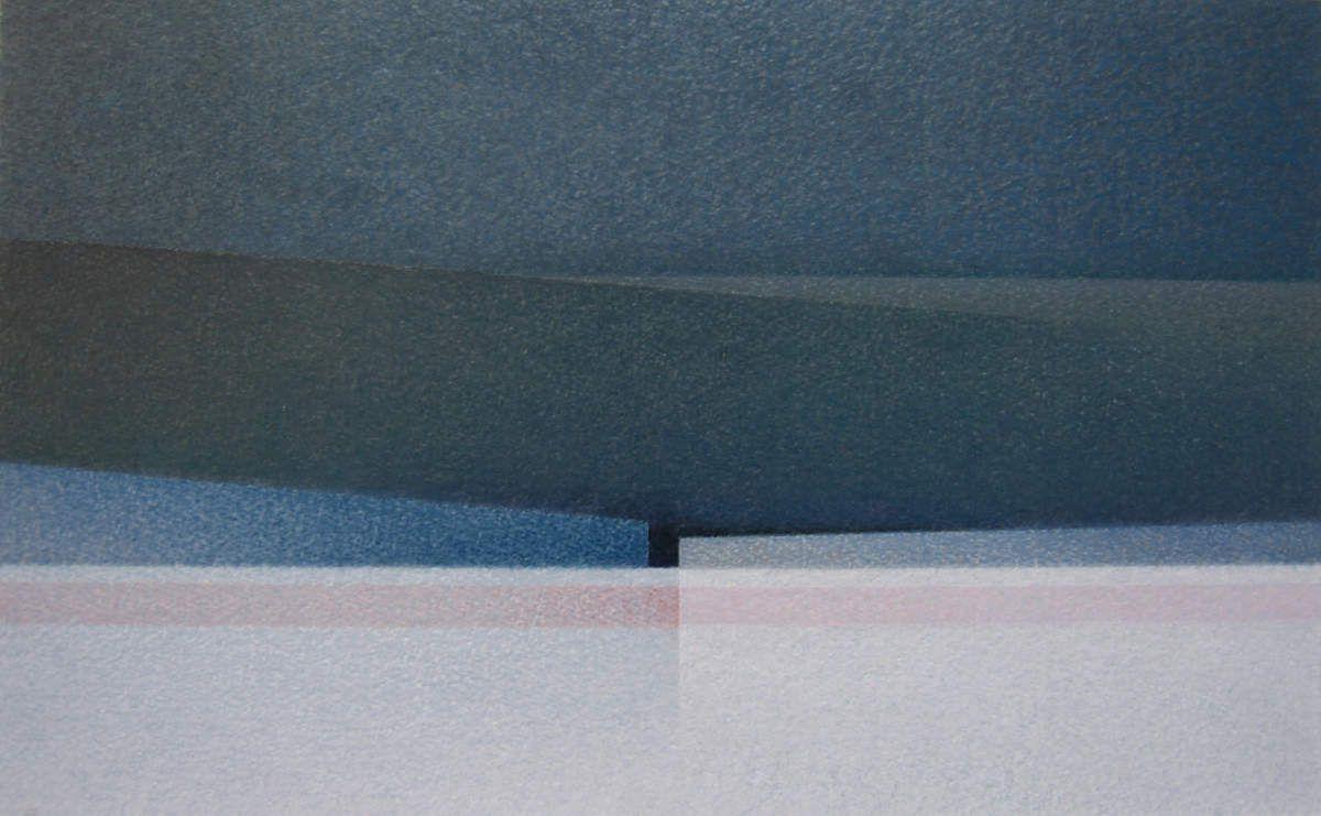 La Nuit 2005_ pastel à l'huile_ 27 cm X 43 cm