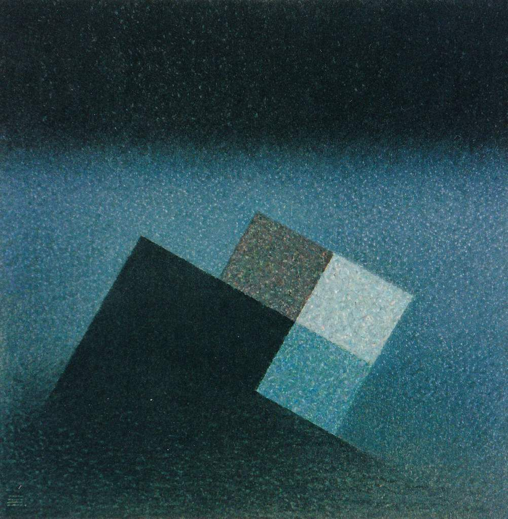 Tantra 1996, Pastel à l'huile 25 x 25 cm