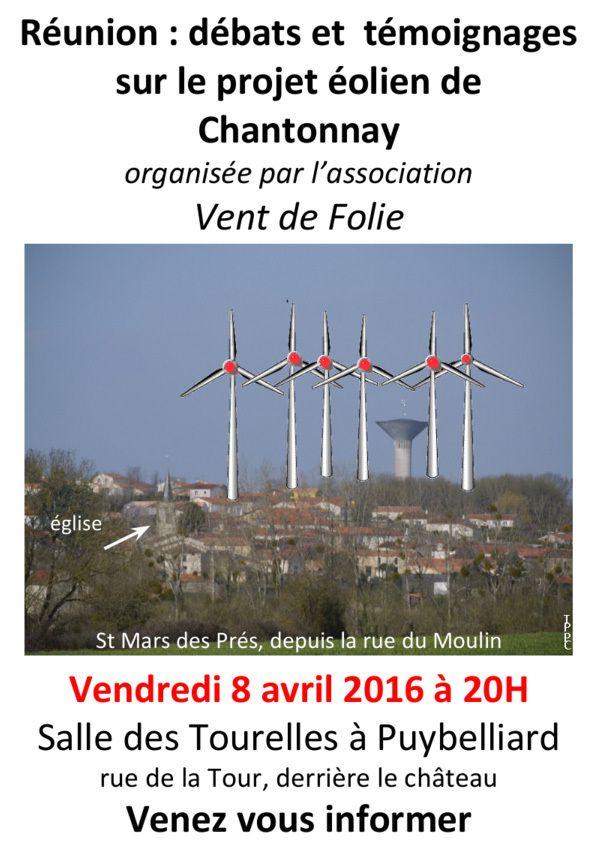Réunion publique vendredi 8 avril 2016  à 20h