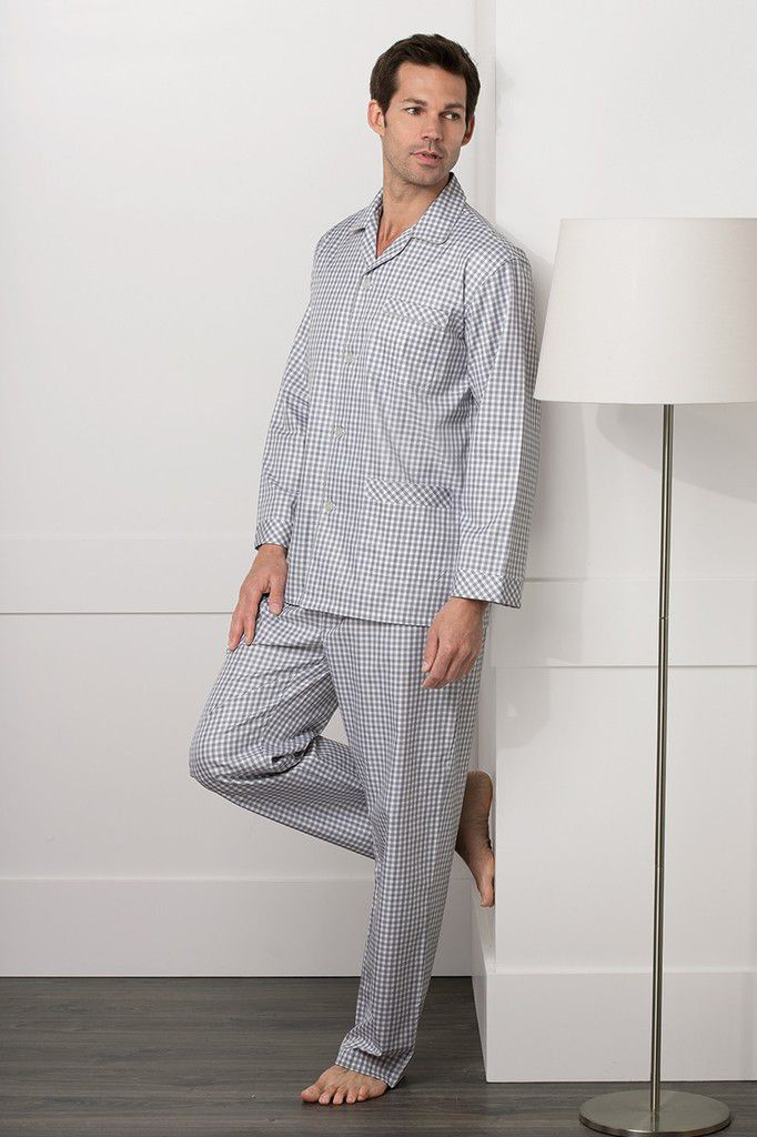 Pyjama luxe intimit au masculin for Pyjama homme carreaux