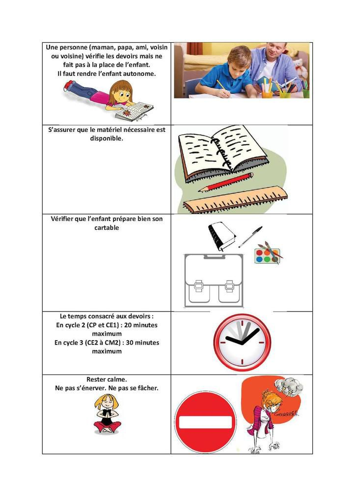 les devoirs 224 la maison apprendre le fran 231 ais avec et pour vos enfants