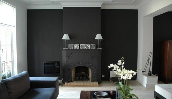 Mur fonc osez home by me for Salon mur gris anthracite