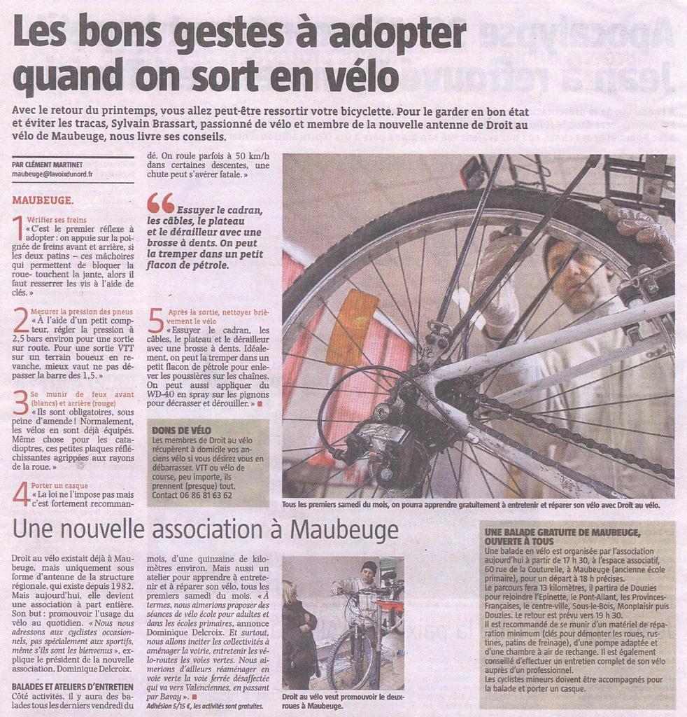 Article de La Voix du Nord du vendredi 25 mars 2016
